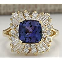 Siam panva Fashion Jewelry 14K Yellow Gold Plated Sapphire Wedding Engagement Ring Sz 6-10 (6)