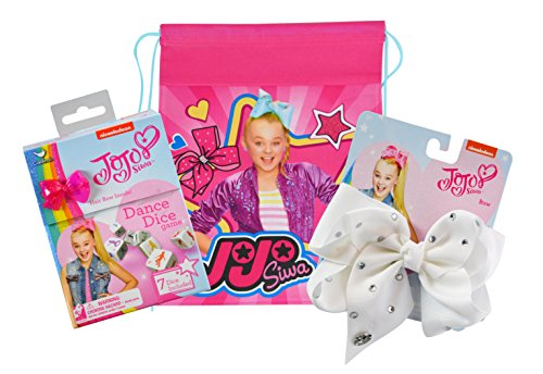 Signature Sling - JoJo Siwa Dice Game and Large Print Signature Bow with Travel Sling Bag