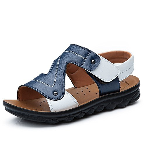 Image of Leather Beach Sandal For Kids Little Big Child Boy Open-Toe Outdoor Sport Summer Shoes