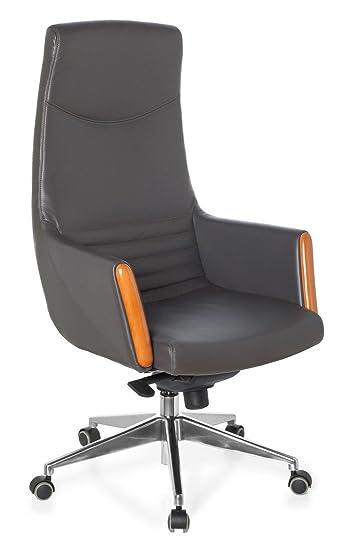Bürostuhl ergonomisch holz  hjh OFFICE 600260 Bürostuhl Chefsessel TREBBIANO 20 Feinleder mit ...