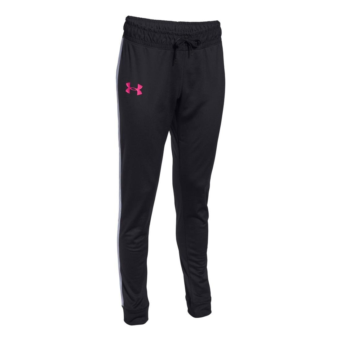 Womens Under Armour Challenge Knit Pant Black/Rebel Pink SM (US 4-6) x One Size