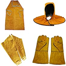 Homyl Leather Welding Welders Apron Sleeves Flame-Resistant Work Safety Workwear