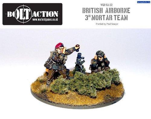 - 3'' British Para Mortar & Crew Miniatures