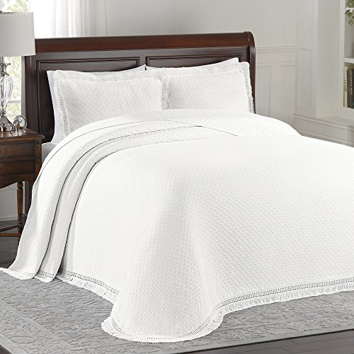 UPC 032672504395, Lamont Limited Home Bedspread, King, White