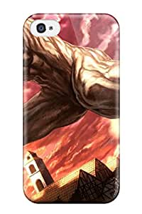 New TfsIJMA8343bwmpn Attack On Titan Tpu Cover Case For Iphone 4/4s