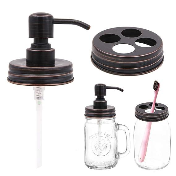 Amazon.com: Juego de 2 piezas de accesorios de baño de acero ...