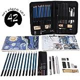 Cool Bank Professional Art Set Drawing and Sketching Set- Drawing, Sketching and Charcoal Pencils (42pcs)