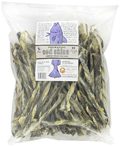 Polka Dog Bakery Cod Skins Crunchy Sticks for Dogs, 2-Pound