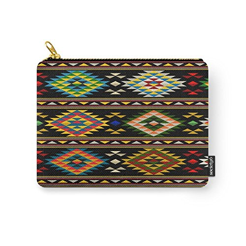 Society6 American Indian Seamless Pattern Carry-All Pouch Small (6