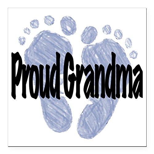 CafePress - Proud Grandma (Boy) Square Car Magnet 3