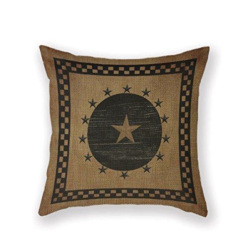 (JuMei Home Decorative Pillowcase Primitives Primitive Country Folk Throw Pillow Cover 18 X 18 Square Pillowcase Throw Pillow Cover)