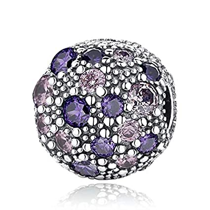 95061f316 Image Unavailable. Image not available for. Color: Ochoos 925 Sterling  Silver Charm Crystal Cosmic Stars Clip Stopper Beads Fit Pandora Original  ...