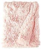BESSIE AND BARNIE Bubble Gum Luxury Shag Ultra Plush Faux Fur Pet, Dog, Cat, Puppy Super Soft Reversible Blanket (Multiple Sizes)