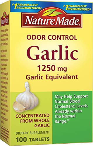 Nature Made Herbs Odorless Garlic 1250mg, 100 Tablets (Pack of 3) ()