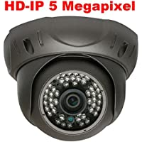 GW Security 5 Megapixel 2592 x 1920 Pixel Super HD 1920P Hi-Resolution Network PoE Wide Angle View Security Dome IP Camera