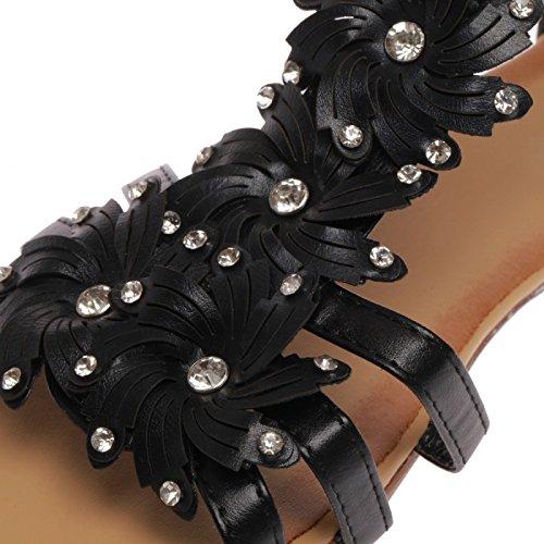 Femme Petit très La compensé Noir Un Sandales Modeuse avec Bw66YE1S