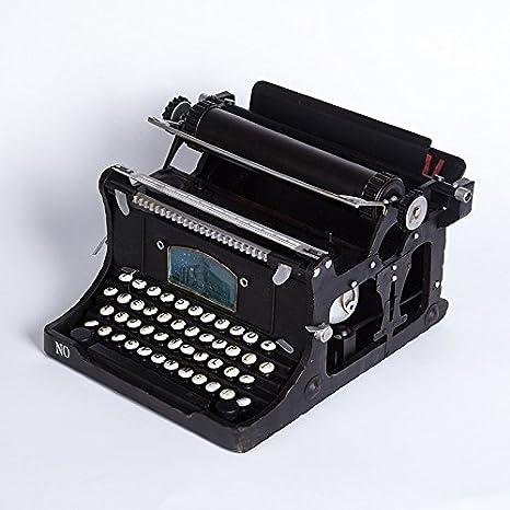 ZY barras de metal de modelo hierro decorativo decoración Retro hecho a mano máquina de escribir vintage ornamentos de cafés: Amazon.es: Hogar