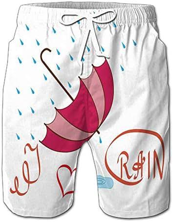 Quick Dry Vintage Sweet Beach Shorts Swim Trunks Board Shorts