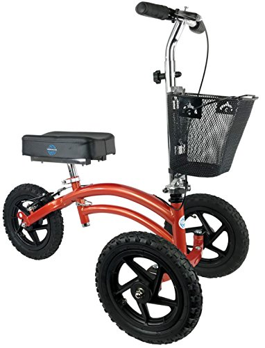NEW All Terrain KneeRover Steerable Knee Scooter Knee Walker Heavy Duty Crutches Alternative in Canyon Orange