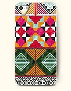 OOFIT Aztec Indian Chevron Zigzag Pattern Hard Case for Apple iPhone 4 4S ( Beautiful Ethic Traditional Pattern )