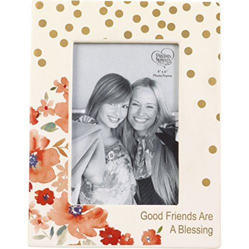 Precious Moments Floral Good Friends are A Blessing Ceramic 185083 Photo Frame One Size Multicolor