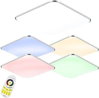 24W LED RGB Ultraslim Moderno Lámpara de techo dormitorio Cocina ...