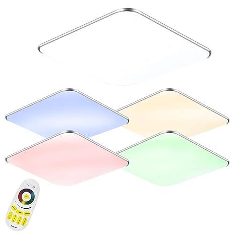 24W LED RGB Ultraslim Moderno Lámpara de techo dormitorio Cocina Piso Salón Lámpara de pared Lámpara Ahorro De Energía Luz