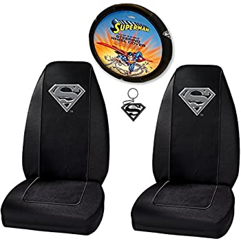For VW Batman Deluxe Seat Covers and Classic BAM Logo Headrest Covers