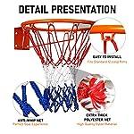 JOLIGAEA-Robusto-Rete-da-Nylon-Basket-ProfessionaleTutti-Tempo-Metereologico-Anti-FrustaAdatto-a-Tutti-i-Canestro-da-Basket-Standard-per-Interni-o-EsterniRete-da-Basket-a-12-Anelli53-cm