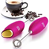 Zulay Original Milk Frother Handheld Foam Maker for Lattes - Whisk Drink Mixer for Bulletproof Coffee, Mini Foamer for Cappuccino, Frappe, Matcha, Hot Chocolate by Milk Boss - Great Gift for Women - Mom Frother