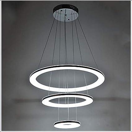 HONGHUIYU Lámparas Colgantes Luz Ambiente Cromo Metal ...