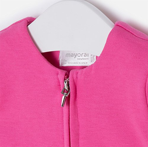 Mayoral Jersey Jacket for Baby Girl in hot Pink