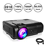 Best Projectors - Projectors,PoFun(2018 Upgraded)+50% Lumens Mini Portable Projector,50,000 Hour LED Review