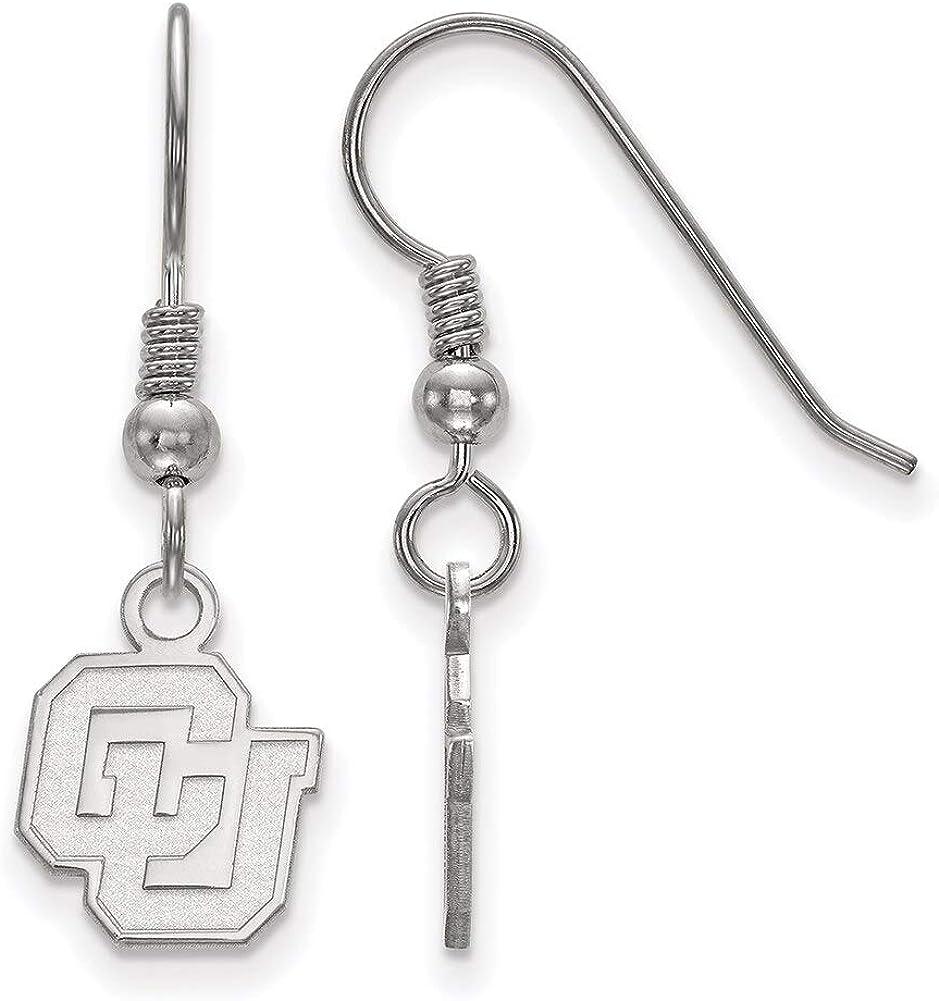 Lex /& Lu LogoArt Sterling Silver University of Colorado XS Dangle Earrings LAL146435