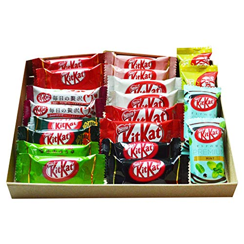 Kit Kat chocolate Especial Dagashi caja japonesa 20 piezas con AKIBA KING Sticker