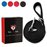 Pets Lovers Club Strong Reflective Dog Leash for Large Dogs | Comfortable Walks ~ Padded Handle to Hold Strong Dogs | Reflective Material for Safer Walks | for Medium & Large Dogs | 6 Feet x 1 inch