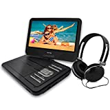 Portable DVD Player By WONNIE: New Generation Video Device for Kids for Long Road Trips (10.6 inch Black)