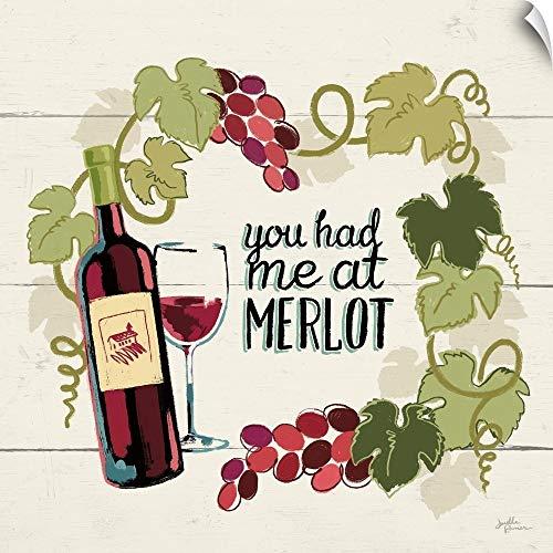(CANVAS ON DEMAND Wine and Friends II Wall Peel Art Print, 20