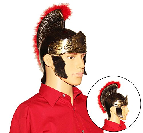 Dazzling Toys Roman Legion Gladiator Helmet Hat - Gold For Big Kids, Teens and Adults. (2)