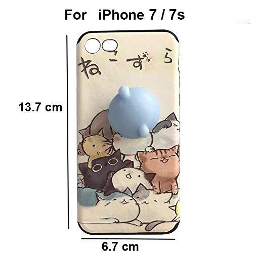 Pinzhi Pinzhi Gato Squishy Suave Agradable de Pappy Del Silicón 3D Para la Caja de la Cubierta del iPhone 7