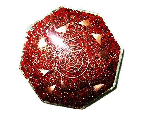 Jet New Red Jasper Orgone Vastu Plate Free Booklet jet International Crystal Therapy Energy Generator Crystal Gemstones Unique Rare Image is JUST A Reference.