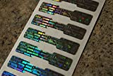 500 Silver Hologram Dogbone Tamper Evident High Security Labels Stickers (1.75 Inch X .35 Inch)
