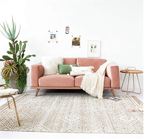 JASONN Heavy Duty Carpet, Modern Hand Made Rug, Living Room Bedroom Carpet Floor Mat,A,120×180