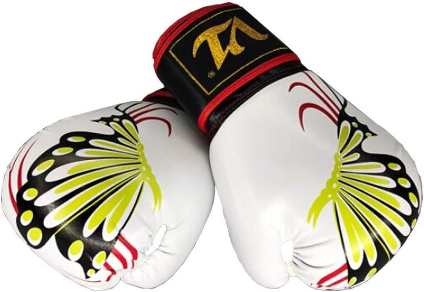 ボクシンググローブ、小児および青年大人ボクシンググローブ、男性と女性のための専門の手袋、トレーニング三田ファイティング手袋、白。  8OZ