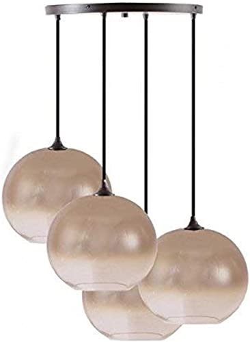 Hanging globe light fixture bronze pendant glass globe chandelier