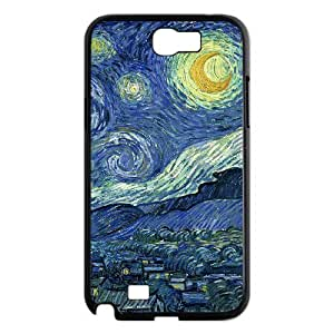 JFLIFE Oil painting Phone Case for samsung galaxy note2 Black Shell Phone [Pattern-1]