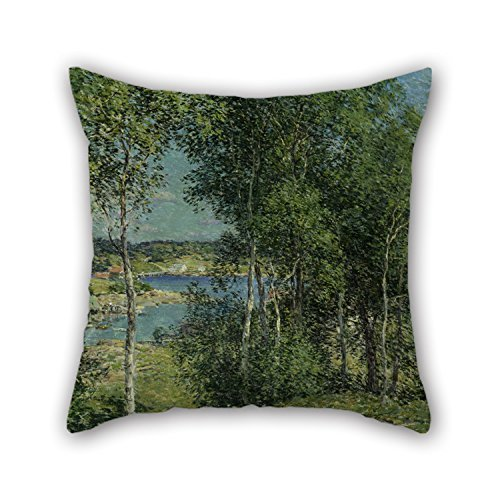 Beautifulseason Oil Painting Willard L. Metcalf - A Family Of Birches Pillowcase ,best For Valentine,festival,wedding,bar Seat,son,chair 20 X 20 Inches / 50 By 50 Cm(twin Sides)