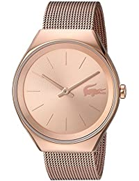Womens Valencia Quartz and Stainless Steel Watch, Color:Gold-Toned (