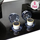 Eudemon 6 Pack Safety Children Kitchen Stove Gas Knob Covers & 12 Pack US Type Socket Plug Covers (6 Pack, Grey)