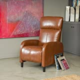 Best Selling Home 344805 Trenton Hazelnut Brown Leather Recliner
